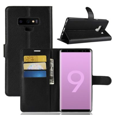 Samsung Galaxy Note 9 Lompakkokotelo Musta