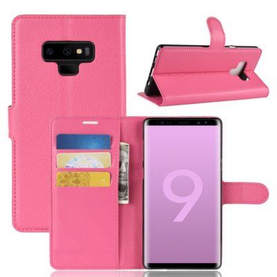Samsung Galaxy Note 9 Lompakkokotelo Pinkki