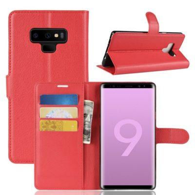 Samsung Galaxy Note 9 Lompakkokotelo Punainen