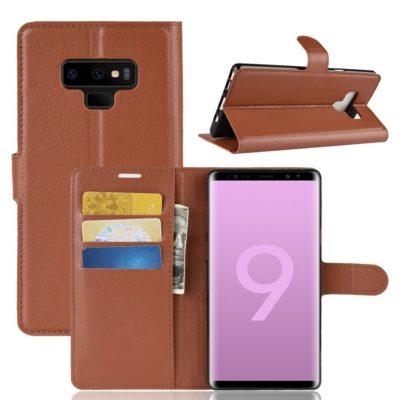 Samsung Galaxy Note 9 Lompakkokotelo Ruskea