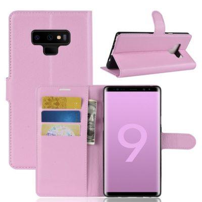 Samsung Galaxy Note 9 Lompakkokotelo Vaaleanpunainen