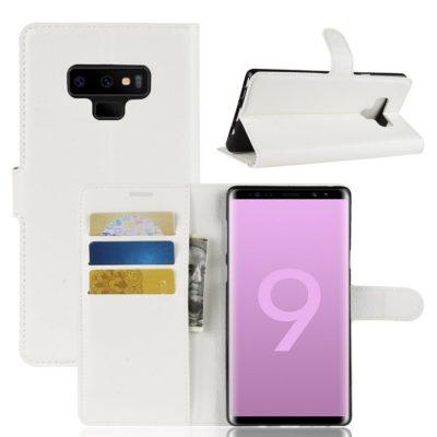 Samsung Galaxy Note 9 Lompakkokotelo Valkoinen