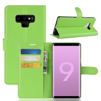 Samsung Galaxy Note 9 Lompakkokotelo Vihreä