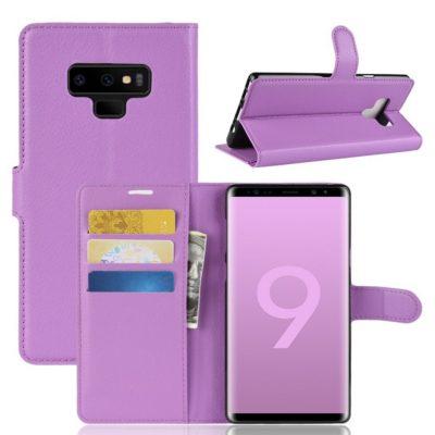 Samsung Galaxy Note 9 Lompakkokotelo Violetti