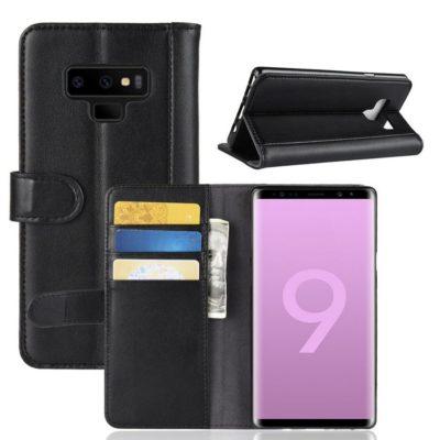 Samsung Galaxy Note 9 Suojakotelo Musta Nahka