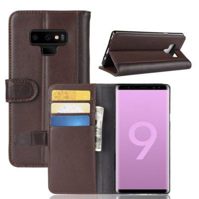 Samsung Galaxy Note 9 Suojakotelo Ruskea Nahka