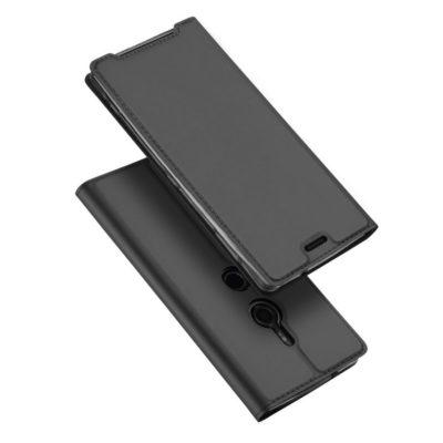 Sony Xperia XZ3 Kotelo Dux Ducis Tummanharmaa