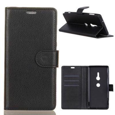 Sony Xperia XZ3 Lompakkokotelo Musta