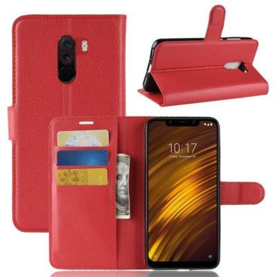 Xiaomi Pocophone F1 Lompakkokotelo Punainen