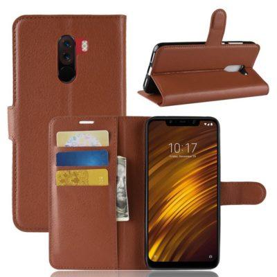 Xiaomi Pocophone F1 Lompakkokotelo Ruskea
