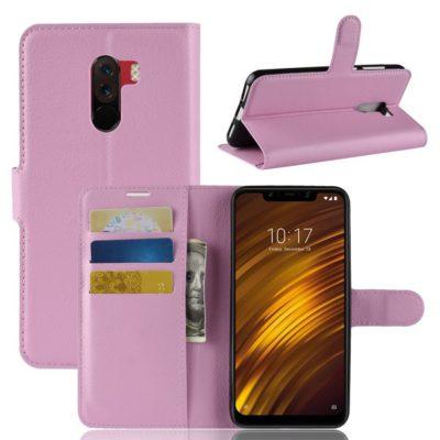 Xiaomi Pocophone F1 Lompakkokotelo Vaaleanpunainen