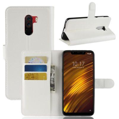 Xiaomi Pocophone F1 Lompakkokotelo Valkoinen