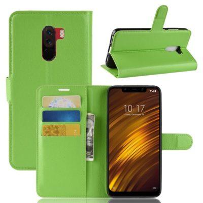 Xiaomi Pocophone F1 Lompakkokotelo Vihreä