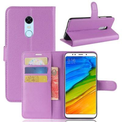 Xiaomi Redmi 5 Plus Suojakotelo Violetti Lompakko