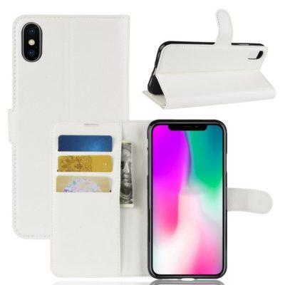 Apple iPhone XR Lompakkokotelo Valkoinen
