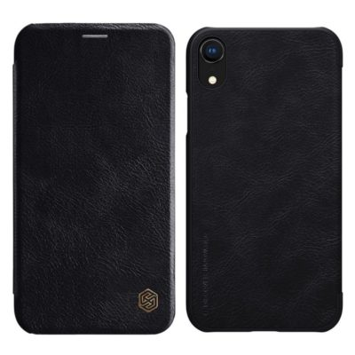 Apple iPhone XR Suojakotelo Nillkin Qin Musta