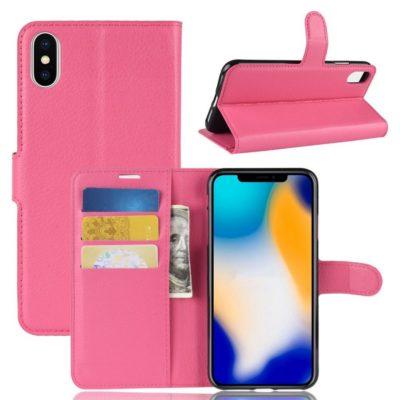 Apple iPhone Xs Max Lompakkokotelo Pinkki