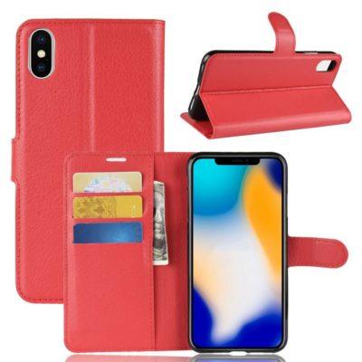 Apple iPhone Xs Max Lompakkokotelo Punainen