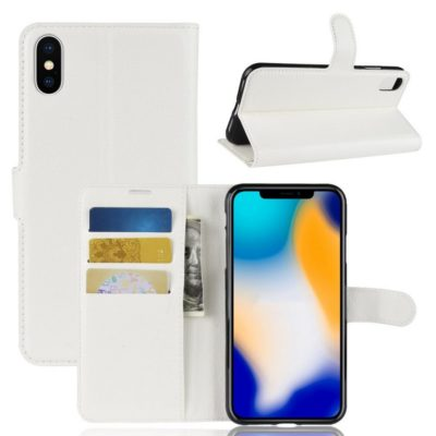 Apple iPhone Xs Max Lompakkokotelo Valkoinen