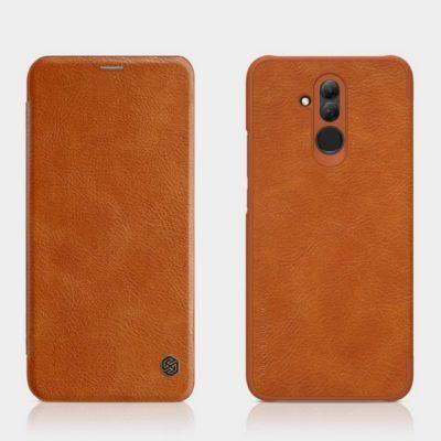 Huawei Mate 20 Lite Kotelo Nillkin Qin Ruskea
