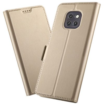 Huawei Mate 20 Pro Kannellinen Suojakotelo Kulta
