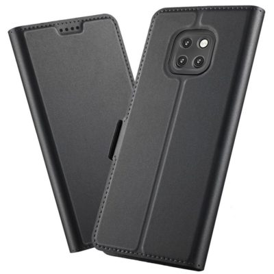 Huawei Mate 20 Pro Kannellinen Suojakotelo Musta