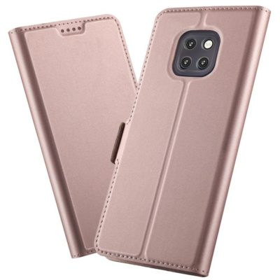 Huawei Mate 20 Pro Kannellinen Suojakotelo Ruusukulta