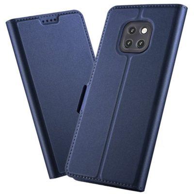 Huawei Mate 20 Pro Kannellinen Suojakotelo Sininen