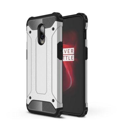 OnePlus 6T Suojakuori 2-osainen Hopea