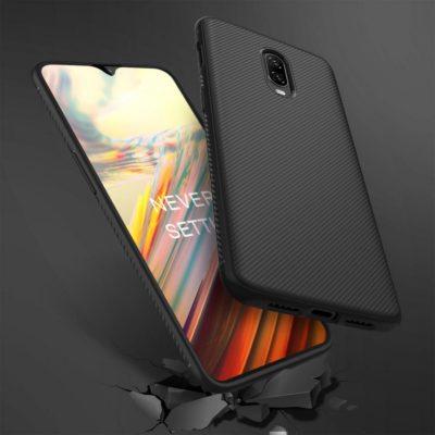 OnePlus 6T Suojakuori Silikoni Musta