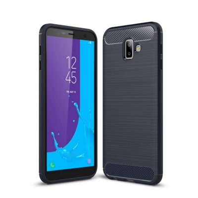 Samsung Galaxy J6+ (2018) Suojakuori Hiilikuitu Sininen