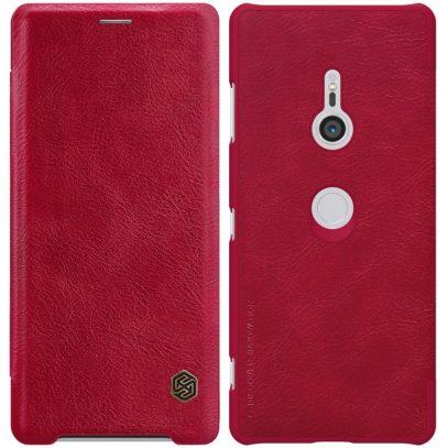 Sony Xperia XZ3 Suojakotelo Nillkin Qin Punainen