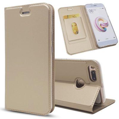 Xiaomi Mi A1 Kannellinen Suojakotelo Kulta