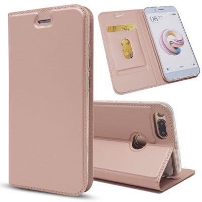Xiaomi Mi A1 Kannellinen Suojakotelo Ruusukulta