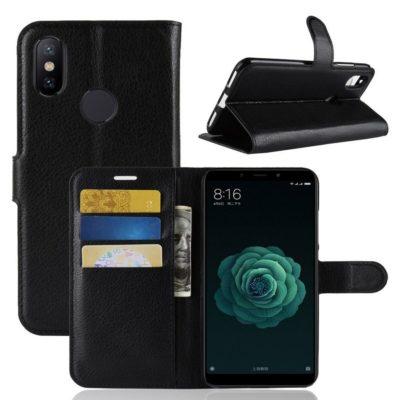 Xiaomi Mi A2 Suojakotelo Musta Lompakko