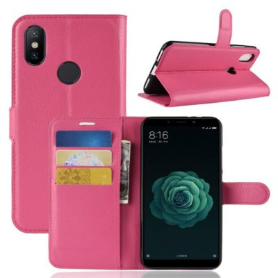 Xiaomi Mi A2 Suojakotelo Pinkki Lompakko