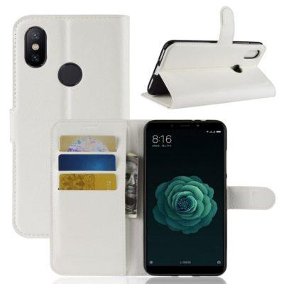 Xiaomi Mi A2 Suojakotelo Valkoinen Lompakko