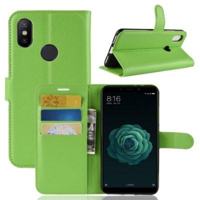 Xiaomi Mi A2 Suojakotelo Vihreä Lompakko