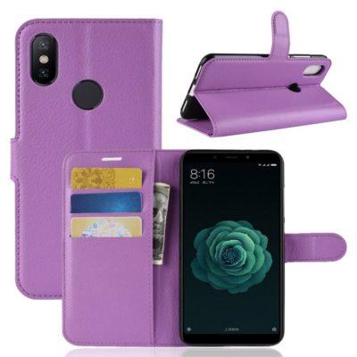 Xiaomi Mi A2 Suojakotelo Violetti Lompakko