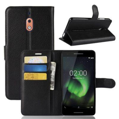 Nokia 2.1 (2018) Suojakotelo Musta Lompakko