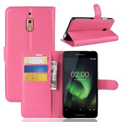 Nokia 2.1 (2018) Suojakotelo Pinkki Lompakko