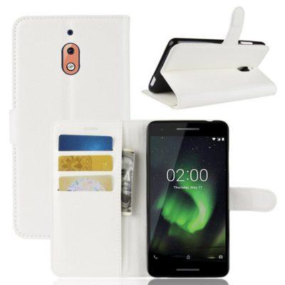 Nokia 2.1 (2018) Suojakotelo Valkoinen Lompakko
