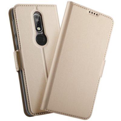Nokia 7.1 (2018) Kannellinen Kotelo Kulta