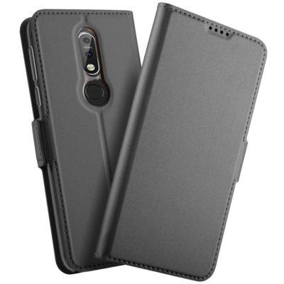 Nokia 7.1 (2018) Kannellinen Kotelo Musta