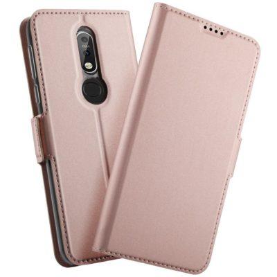 Nokia 7.1 (2018) Kannellinen Kotelo Ruusukulta