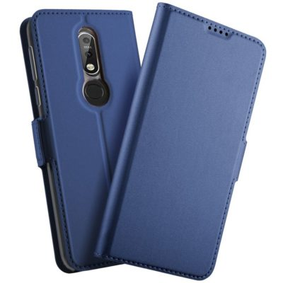Nokia 7.1 (2018) Kannellinen Kotelo Sininen