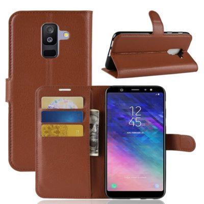 Samsung Galaxy A6+ (2018) Suojakotelo Ruskea