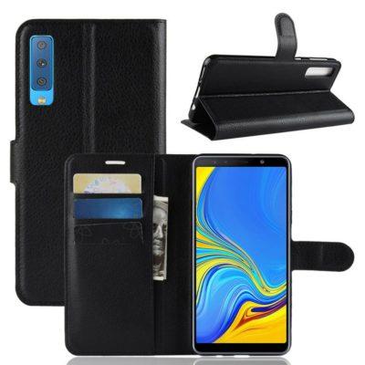 Samsung Galaxy A7 (2018) Kotelo Musta Lompakko