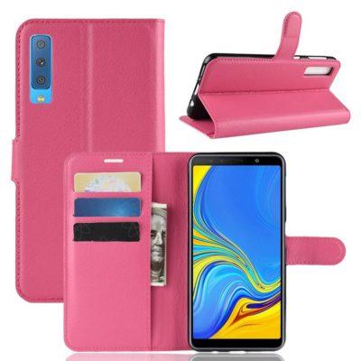 Samsung Galaxy A7 (2018) Kotelo Pinkki Lompakko