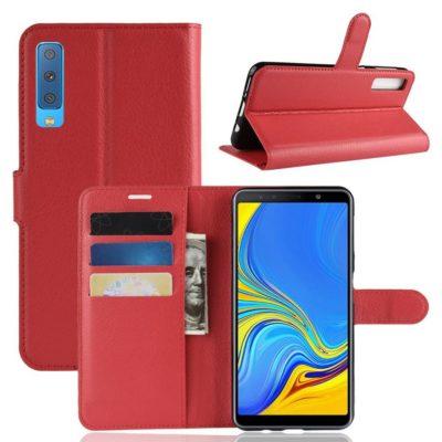 Samsung Galaxy A7 (2018) Kotelo Punainen Lompakko
